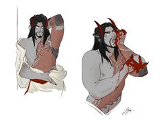 Oh shit it's Demon Hanzo being mischievous - the layer called asdfjh