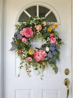 125.00. Spring Wreath-Summer Wreath-Hydrangea Wreath-Mother's Day