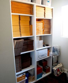 Organizing your shipping supplies makes shipping your items quick & easy - Storage Area Makeover by Steppie