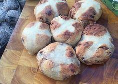 Easter Hot Cross Buns in the Camp Oven Easter Hot Cross Buns, Cast Iron, Oven, Muffin, Breakfast, Boys, Morning Coffee, Baby Boys, Ovens