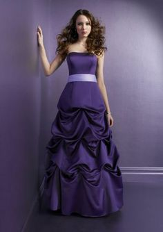 Purple lace wedding dress