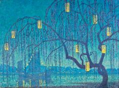 Japonisme: Thomas Watson Ball, Chinese Twilight, Oil on canvas, Florence Griswold Museum