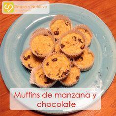 MUFFINS DE MANZANA Y CHOCOLATE