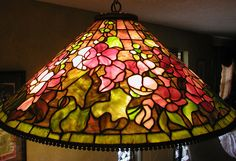 Finished reproduction of Tiffany Hollyhock Lamp