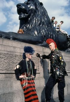 Postcard Punks. Trafalgar Square, London 1983