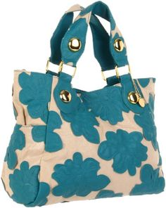 $89.95-$89.95 Handbags  BIG BUDDHA Hibto Tote,Turquoise,One Size - Complete your look with spacious florals. Classic tote about town shape combines style and practicality. Gold studs for a little extra eye-catching detail. Made from faux leather on a metallic canvas. Dual side exterior slip pockets. Double carrying handles. Magnetic snap top closure. Roomy fully lined compartment. Interior zipper  ...