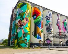 Grafitti Street, Street Mural, Urban Art, Vacation Trips, Landscape Architecture, Netherlands, Holland, Places To Go, City