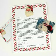 Letter From Santa From The North Pole ~  Personalize a downloadable letter and envelope using WORD. Put all sealed envelopes in larger envelope and send to North Pole Postmark (address given).  Downloads & How To @: http://www.dreamalittlebigger.com/post/letters-from-santa-from-the-north-pole.html