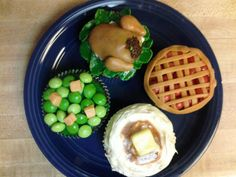 Turkey Dinner cupcakes with the fixins!