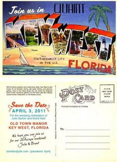 Love these Save the Dates from Serendipity Beyond Design for @Julie Neill's Key West wedding.