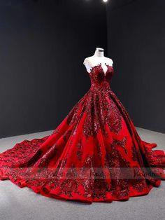 Haute Couture Burgundy Prom Dresses Vintage Ball Gowns FD1666 – Viniodress