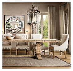 Restoration Hardware Salvaged Trestle Dining Table DINING REFINED - Restoration hardware dining table and chairs