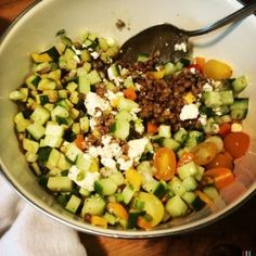 Lentil & Mixed Vegetable Salad