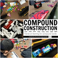 Unapologetically I believe in the importance of play in the classroom. Our young students learn best through exciting, hands-on experiences. So, when possible, I love intentionally crafting play and wonder into our day. Compound Construction is one of those fun, hands-on, best-day-ever kind of days.
