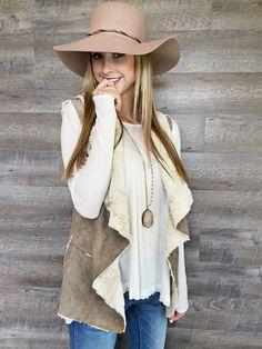 Faux Fur & Suede Vest | 2 Colors