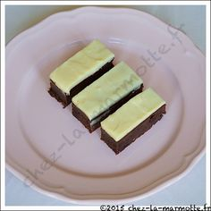 Brownie glacé au chocolat blanc | Marmotte cuisine !
