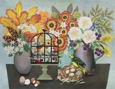 Melissa Shirley new autumn table needlepoint canvas