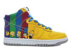 cartoon High Tops | The Simpsons Nike Dunks Cartoon High Tops