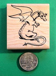 Dragon Rubber Stamp, wood mounted by stampman46501 on eBay