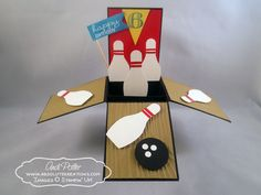 Stampin Up Punch Art Bowling Card In A Box by Andi Potler