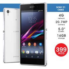 AED 399   Sony Xperia Z1 - C6903-R, 4G LTE, 5 inch, 16GB, 2GB RAM with Warranty  Tel ☎️ : 045576800 ➤ WhatsApp 📱: 0551045757  WWW.ASET-UAE.COM #asetuae #flashsale #dubai #uae #sony Sony Phone, Buy Mobile, 2gb Ram, Dubai Uae, Sony Xperia, Daily Deals