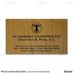 40 best chiropractic business card designs images on pinterest wood look standard chiropractic business cards reheart Choice Image