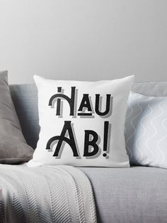 German Deutschland Slang' Throw Pillow by Dialectees Sofa Pillows, Floor Pillows, Throw Pillows, Cushions, Couch, Diy Wall Decor For Bedroom, Living Room Decor, Graphic Prints, Graphic Design