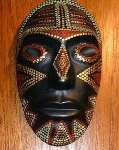 Máscara de inspiración arawak, llamada aña aña. Chaco - Argentina