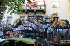 """StreetArtNews   """"No Land For The Poor"""", a new mural by WD in Athens, Greece"""