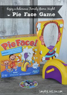 Have a Hilarious Family Game Night with the Pie Face Game and let the whipped cream fly - guaranteed to make a bad day hilarious and fun! Fun Games For Kids, Games To Play, Whip Cream Game, Pie Face Game, Bored Games, Family Fun Night, Time Games, Family Games, Family Family