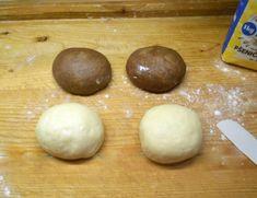 Mäkučký dvojfarebný koláč z pekárničky (fotorecept) - recept | Varecha.sk Eggs, Bread, Breakfast, Food, Basket, Morning Coffee, Brot, Essen, Egg