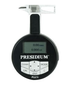 Presidium Gem Computer Gauge (PGCG) - A convenient digital gauge that measures actual gemstone dimension and estimate gemstone weight and identity .  #gauge #tester #gemstone #weight #presidium