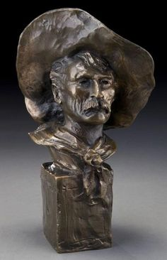 """Frederic Remington, """"The Sergeant"""" bronze sculpture. Inscribed on base, """"Frederic Remington""""; Frederic Remington, Bronze Sculpture, Sculpture Art, Metal Sculptures, Abstract Sculpture, Westerns, American Artists, Creations, Fine Art"""