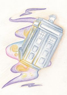 TARDIS tattoo design. The idea is inspired by Van Gogh | by proudsketch #doctorwho