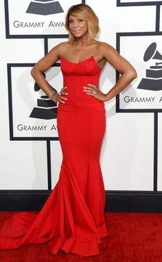 Tamar Braxton in Michael Costello from 2014 Grammys: Red Carpet Arrivals | E! Online