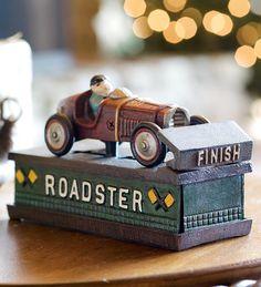 Cast Iron Roadster Mechanical Bank