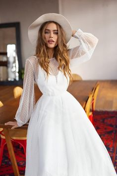 Bohemian wedding dress by Dream&Dress. open back trained wedding dress, sexy lace reception gown, long sleeve bridal dress, boho fall or winter wedding Long Sleeve Bridal Dresses, Top Wedding Dresses, Bohemian Wedding Dresses, Elegant Wedding Dress, Bridal Gowns, Dress Long, Organza Bridal, Parisian Wedding Dress, Long White Dress Boho