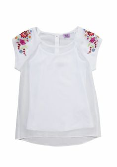 F&F Floral Embroidered Chiffon Top and Camisole