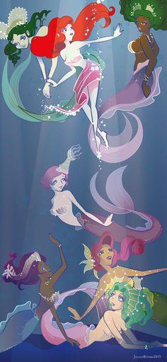 Daughters of Triton by Julian Rivera / suisei-ojii-sama