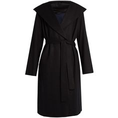 The Row Marney wool-blend coat (6.295 RON) ❤ liked on Polyvore featuring outerwear, coats, black, wool blend wrap coat, wrap coat, wool blend coat, shawl collar coats and shawl collar wrap coat