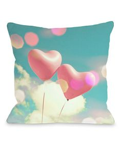 Just love. :: Forever Balloons Throw Pillow -- reminds me of Up.