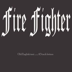 fire fighter english text vinyl lettering decal sticker choose color 45 inch vinyl lettering