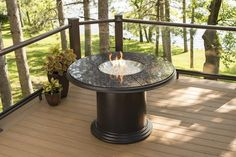 Outdoor Fire Pit - Outdoor GreatRoom Round Grand Colonial Fire Table Dining Base Height