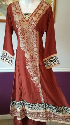 PAKISTANI-INDIAN-SHALWAR-KAMEEZ-Khaadi-EMBROIDERED-LINEN-DESIGNER-DRESS