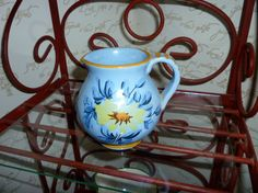 Small BLue Pitcher Made in Italy. Creamer or maybe for by classy10, $8.00