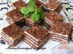 Kókuszos Marlenka szelet Vegetarian Recepies, Hungarian Recipes, Thing 1, Tiramisu, Dishes, Baking, Breakfast, Ethnic Recipes, Food