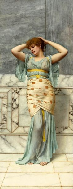 The Athenaeum - Beauty in a Marble Room (John William Godward - )