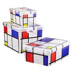 Mondrian Storage Boxes