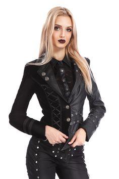 Asymmetrische Metal-/ Gothic-Jacke Gamora