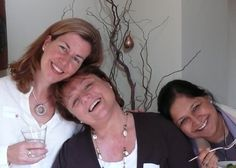The three workshop facilitators, Sallyann, Maria & Manisha.